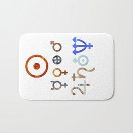Planetary Symbols II Bath Mat