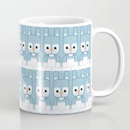 Blue Bunny Rabbit - Super Cute Animals Coffee Mug