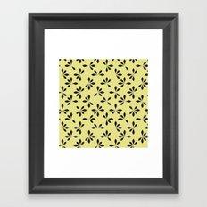 loves me loves me not pattern - banana yellow Framed Art Print
