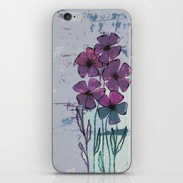 Meadow flowers lilac iPhone Skin
