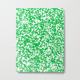 Small Spots - White and Dark Pastel Green Metal Print