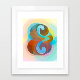 Geometric Ampersand Rainbow Framed Art Print