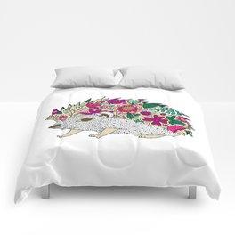 Woodland Hedgehog Illustration Comforters
