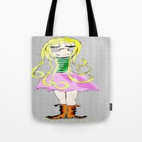 doll Tote Bags featuring Doll by Mikhaelle A.