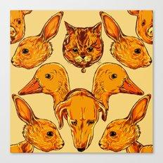 Cute Animals Pattern  Canvas Print