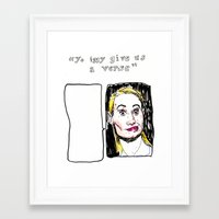 iggy Framed Art Prints featuring iggy freestyle by withapencilinhand