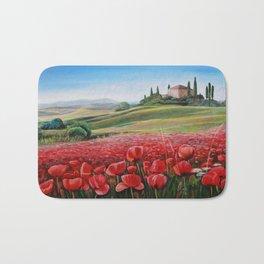 Italian Poppy Field Bath Mat