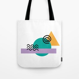 deconstructed spiral sunset Tote Bag