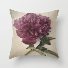 Scents of Spring - Burgundy Peony ii Throw Pillow