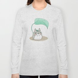 Floral Totoro Long Sleeve T-shirt