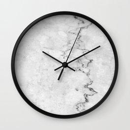 White Marble #2 #texture #marble #decor #art #society6 Wall Clock