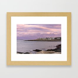 pigeon cove sunset Framed Art Print