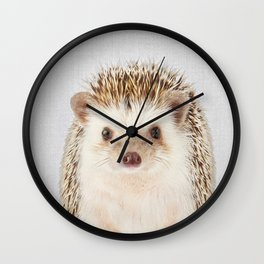 Hedgehog - Colorful Wall Clock