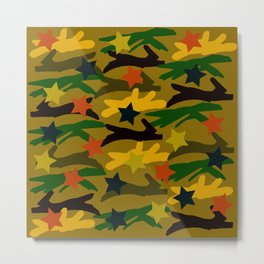 Ballpark Crush Camouflage Metal Print