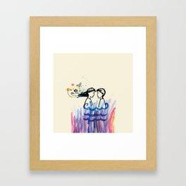 The cosmic look of love Framed Art Print