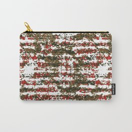Grunge Textured Abstract Pattern Carry-All Pouch