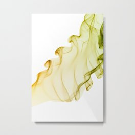 Duo color yellow green smoke Metal Print