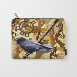 Kokopelli Raven - A Tribute to Music-lovers Carry-All Pouch