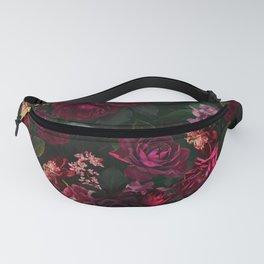 Vintage & Shabby Chic - Night Botanical Flower Roses Garden Fanny Pack