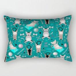Fitness for cats Rectangular Pillow