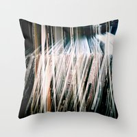 records Throw Pillows featuring Records On Records by Mission85