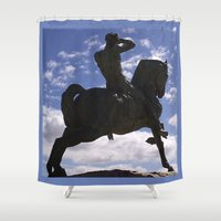 history Shower Curtains featuring Past History by CrismanArt