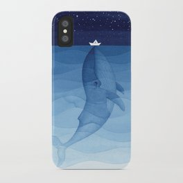 Whale blue ocean iPhone Case