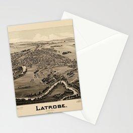 Map Of Latrobe 1900 Stationery Cards