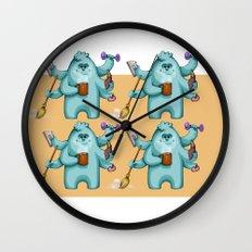 Multitasking Monster Wall Clock