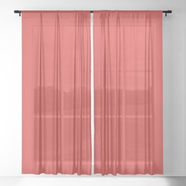 Grenadine Pantone color red Sheer Curtain