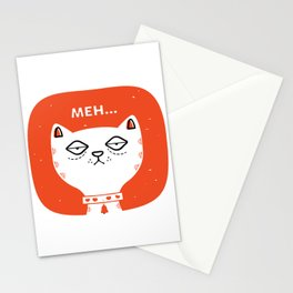 Meh Cat by Steve Mack Stationery Cards