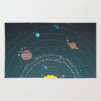 solar system Area & Throw Rugs featuring Solar System by scarriebarrie