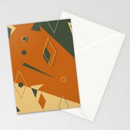 Geometrical style print illustration Stationery Cards