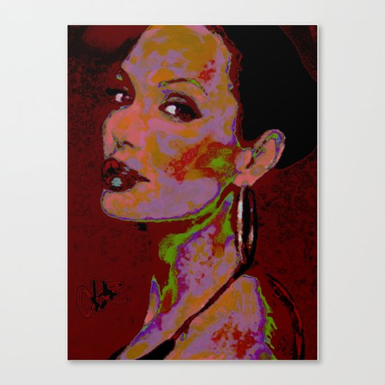 YOURS TRULY, ANGELINA By Cd KIRVEN Canvas Print
