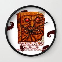 Necronomicon Evangelist Wall Clock