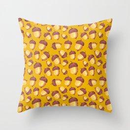 From Tiny Acorns Grow ( Mustard ) Throw Pillow