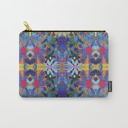 Garden Party - Blue Carry-All Pouch