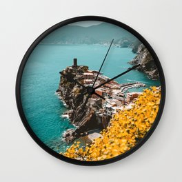 Vernazza, Italy Travel Illustration Wall Clock