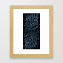 3D ornaments, blue Framed Art Print