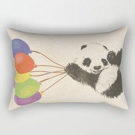 Fly Away Panda Rectangular Pillow