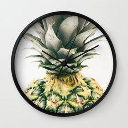 Pineapple Close-Up Wall Clock