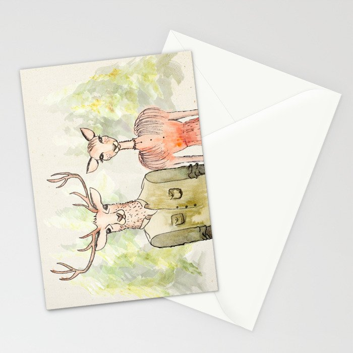 Together in Happy Land Stationery Cards