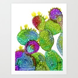 Opuntia 2 - Alcohol Ink Art Print