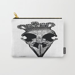 Silver Crown Raven  Carry-All Pouch