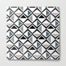 Gray Asymmetry Metal Print