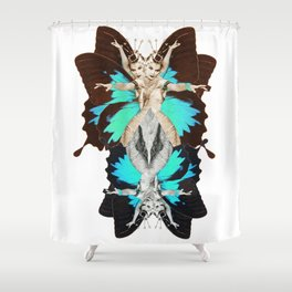 Femme Fatale Dancing - Butterfly Goddess Shower Curtain