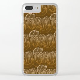 Torquay Typography - Warm Sand Clear iPhone Case