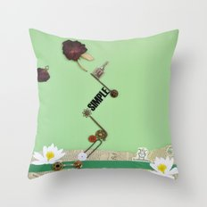 the rose  spring Throw Pillow