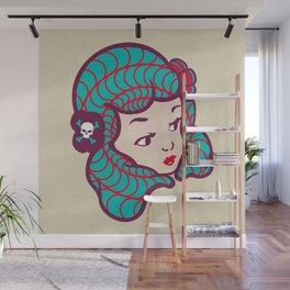 Girl Power Dynamite Laser Beam Wall Mural