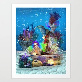 Bioluminescence Wonders Art Print